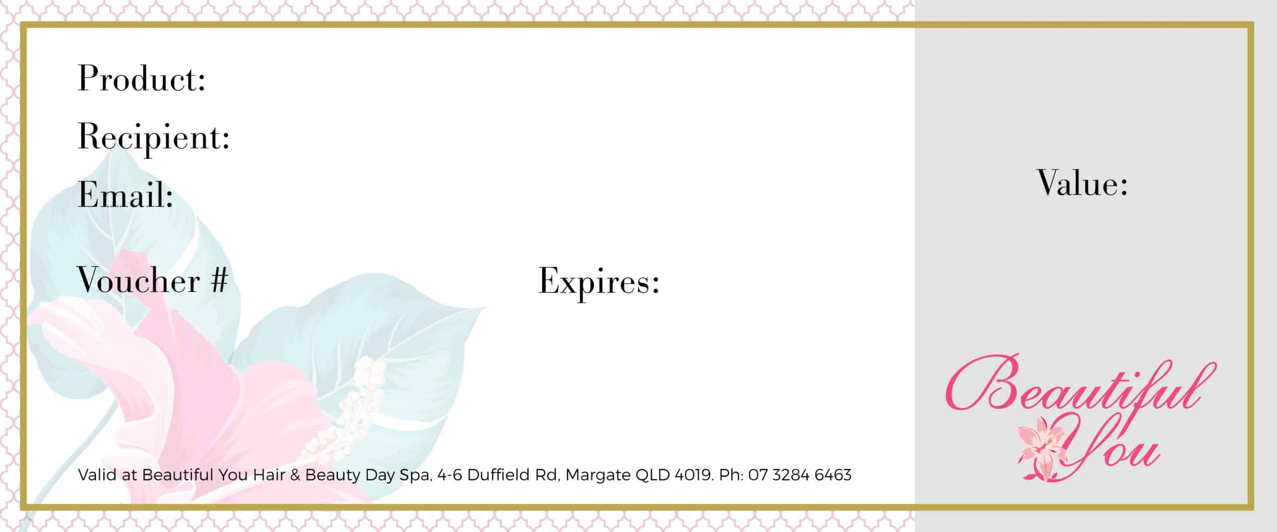 Beautiful You Spa Vouchers Gift For Someone Special Voucher My Salon Image